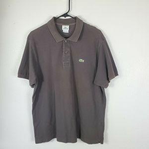 Lacoste Men polo Shirt brown  Sz 6